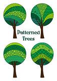 Patterned Trees, Set