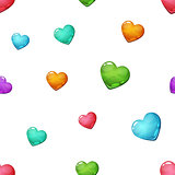 Heart seamless cartoon pattern. Love icon.