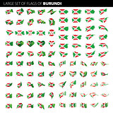 Burundi flag, vector illustration