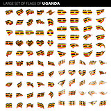 Uganda flag, vector illustration