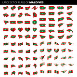 Maldives flag, vector illustration