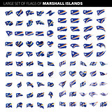 Marshall Islands flag, vector illustration
