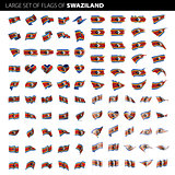 Swaziland flag, vector illustration