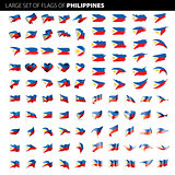 Philippines flag, vector illustration