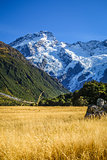 Mount Cook valley landscape, New Zealand