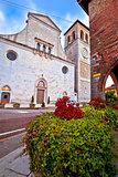 Cividale del Friuli square and church view