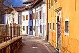 Cividale del Friuli street on Natisone river view