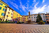 Town of Cividale del Friuli colorful Italian square view