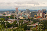 Portland Oregon Downtown Cityscape by Freeway