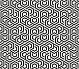 Abstract geometric background black and white hexagons