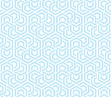 Abstract geometric background blue and white hexagons