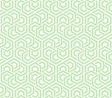 Abstract geometric background green and white hexagons
