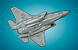Modern American jet fighter aircraft.