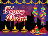 abstract artistic creative diwali night background