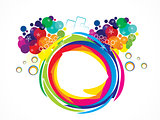 abstract artistic creative rainbow circle explode