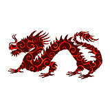 Chinese dragon pattern silhouette symbol traditional China