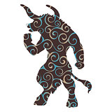Minotaur pattern silhouette ancient mythology fantasy