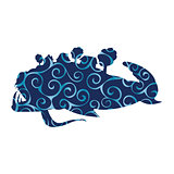 Miracle yudo fish whale pattern silhouette fairytale fantasy