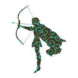 Elf pattern silhouette ancient mythology fantasy