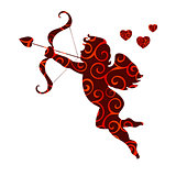 Cupid love pattern silhouette ancient mythology fantasy