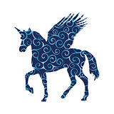 Pegasus Unicorn pattern silhouette mythology symbol fantasy tale