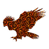 Harpy pattern silhouette ancient mythology fantasy