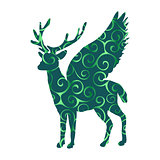 Deer Peryton pattern silhouette ancient mythology fantasy