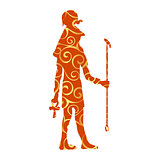 God Ra Horus egypt egyptian pattern silhouette ancient egypt