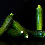 Group of zucchini (zucchetti, courgettes)