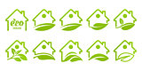 Icon set. Eco house