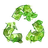 recycle sign leaves