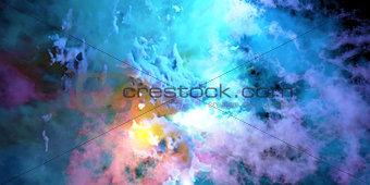 Color smoke 3D render