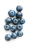 Tasty blueberries fruit.