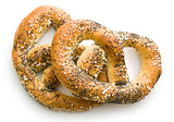 tasty salted pretzel