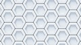White gray abstract hexagonal background. 3D