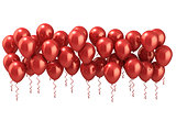 Red party balloons row