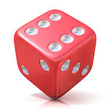 Red game dice