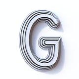 Three steps font letter G 3D