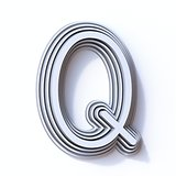 Three steps font letter Q 3D
