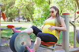 Pregnant Woman Cycling Fitness
