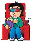 Boy in cinema theme image 1