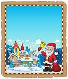 Santa Claus near village parchment 1