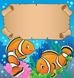 Small parchment with clownfish theme