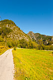 Mountain road in southeastern France.