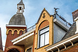 Architectural detail in Alkmaar, the Netherlands