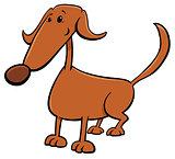 cute brown dog cartoon comic character