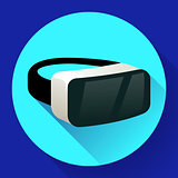 VR Glasses icon or virtual reality helmet icon vector. flat virtual reality headset icon for computer, phone or smart phone, vr goggles