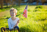 kid with american flag