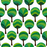 Patterned Trees, Seamless Pattern