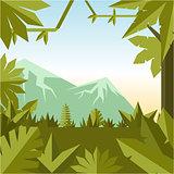 Flat geometric jungle background